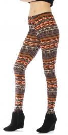 wholesale I75 Horizontal tribal stipe knit leggings