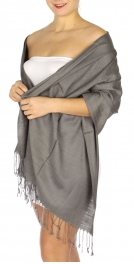 wholesale D01 Silky Light Wedding Pashmina 22 Grey