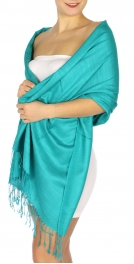 wholesale D01 Silky Light Wedding Pashmina 31 Aqua