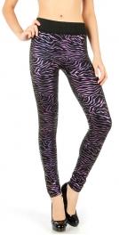 Wholesale C31 Metallic zebra fleece leggings fashionunic