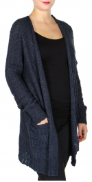 Wholesale N00A Knit boyfriend cardigan Navy