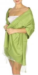 wholesale D01 Silky Light Wedding Pashmina 24 L Green