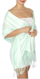 wholesale D45 Silky Solid Wedding Pashmina 30 Oceanfront