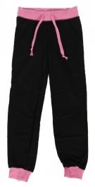 Wholesale E36E Girls' two tone fleece jogger Black/Pink