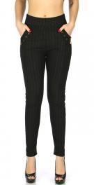 Wholesale C15C Fleece jeggings with zip and pocket Black