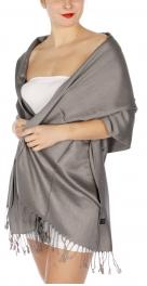 wholesale D36 Solid HD Wedding Pashmina 20 Grey