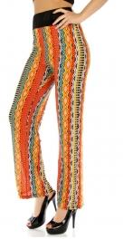 Wholesale M02 Tribal stripe pants RD/YL fashionunic
