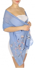 Wholesale H33C Cute flower embroidery scarf BL