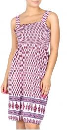 Wholesale Q20 Indian filigree smocked midi dress