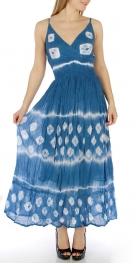 Wholesale N16 Cotton tie dye maxi dress Orange