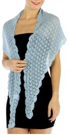 wholesale L10 Hand crochet trim Shawl 368 BK fashionunic