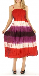 wholesale H09 Line ombre dyed dress 01 Large