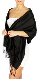wholesale D31 Whole Jacquard Pashmina 13 Black