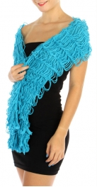 wholesale H06 Solid Caterpillar Knitted scarf BU