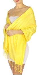 wholesale D01 Silky Light Wedding Pashmina 33 Yellow