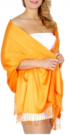 wholesale D40 Solid HD wedding pashmina Dark Orange