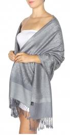 wholesale D35 Whole Jacquard Pashmina 84 Dark Grey