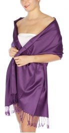wholesale D36 Solid HD Wedding Pashmina 14 Purple
