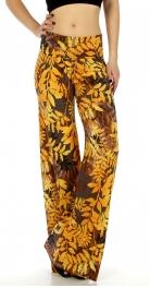 wholesale C32 Leaves pile print palazzo pants
