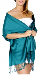wholesale D40 Solid HD wedding pashmina 40 Dark Teal