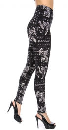 Wholesale T10A NEW MIX Soft brushed print leggings Square Paisley