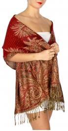 wholesale D40 Big Paisley Pashmina Dozen fashionunic