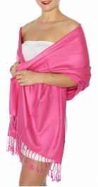wholesale D45 Silky Solid Wedding Pashmina 54 Magenta