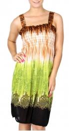 Wholesale Q20 Color filigree smocked midi dress
