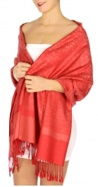 wholesale D33 Whole Jacquard Pashmina 40 True Red