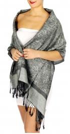 wholesale D31 Whole Jacquard Pashmina 27 Grey