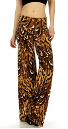 wholesale C35 Feathers allover print palazzo pants