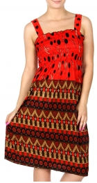 Wholesale Q20 Geometric smocked midi dress