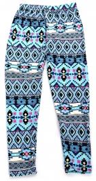 Wholesale A28 Tribal diamond print kids softbrush leggings
