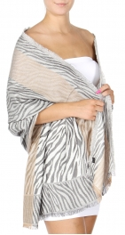 wholesale D27 Section Zebra Jacquard Shawl 01