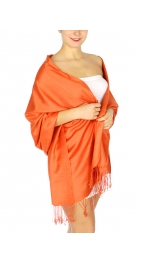 wholesale D01 Silky Light Wedding Pashmina 14 Sunset OR