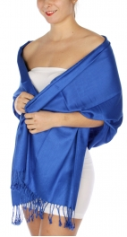 wholesale D36 Solid HD Wedding Pashmina 10 Royal Blue