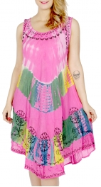 Wholesale G22C Embroidery Tie-dye parachute dress Black