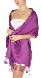 wholesale D36 Solid HD Wedding Pashmina 09 Violet