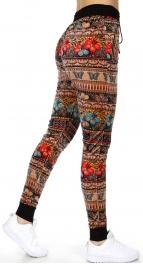 wholesale Flower butterflies pocket velour jogger pants