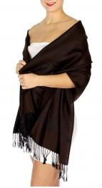 wholesale D31 Whole Jacquard Pashmina 01 Dark Brown