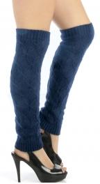 wholesale H39 Diamond Knit long leg warmers Navy