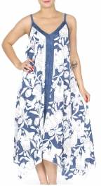 Wholesale K78D Handkerchief hem sleeveless dress BLUE
