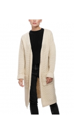 Wholesale Y28A Long knit cardigan