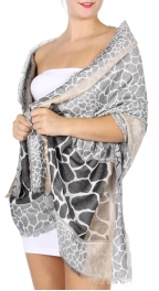 wholesale D27 Section Giraffe Jacquard Shawl 01