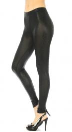 wholesale L40 Shiny animal leggings Black L fashionunic