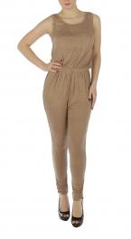 wholesale Sleeveless pocket V neck jumpsuit BK