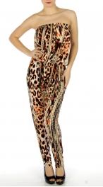 wholesale C37 Cheetah print jumper suit fashionunic