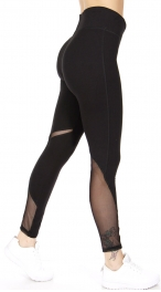 Wholesale R72A Mesh panel workout leggings Black