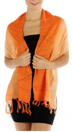 wholesale I18 Hemp touch gradation woven shawl OR