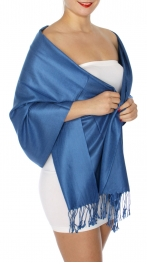 wholesale D45 Silky Solid Wedding Pashmina 53 Patriot